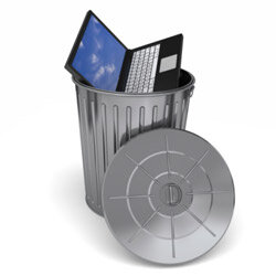 Instead of doing THIS with your old (or gently used) electronics, why not recycle or donate them instead?