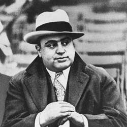 Al Capone was originally incarcerated for tax evasion in Atlanta, but after he gained too much control over prison officials there, he was transferred to Alcatraz.