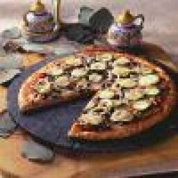 Zucchini Black Bean and Sun-Dried Tomato Pizza