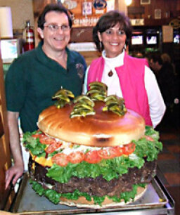 Would you pay $350 for a 134-pound cheeseburger?