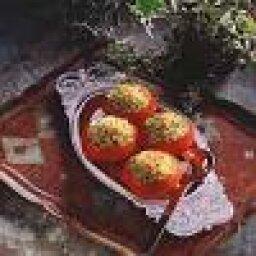 Pesto-Pasta Stuffed Tomatoes