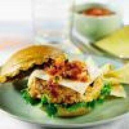 Grilled Salsa Turkey Burger