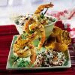 Grilled Garlic-Pepper Shrimp