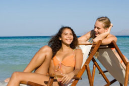 Is beach tanning worse than just being outside?