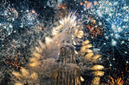 How do fireworks explode in different shapes?