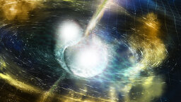 Gravitational Wave Detectors Discover Colliding Neutron Stars – and Uncover a Scientific Goldmine