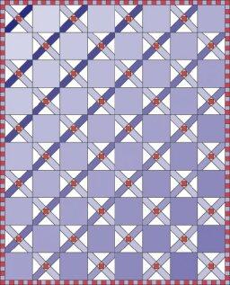 Crossed Quilt Pattern