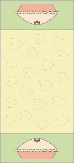 Cutie Pie Quilted Table Runner Pattern