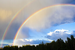 How rare are double rainbows?