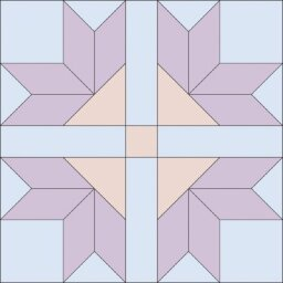 Four Corner Flowers Quilt Block