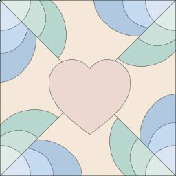 Heart's Delight Quilt Block