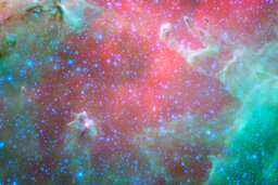 Why is it clearer to view space through an infrared telescope?