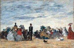 La Plage de Trouville by Eugene Boudin