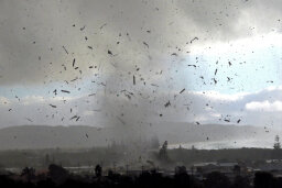 Do tornadoes only occur in North America?