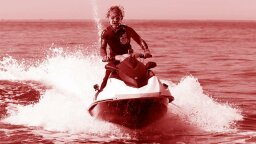 Watch Out, Damselfish. Here Comes Leatherface on His Personal Watercraft