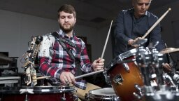Robotic Prosthesis Lets Drummers Play a Three-armed Cyborg Beat
