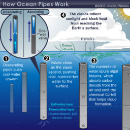 Why do some scientists want to scatter tubes throughout the open ocean?