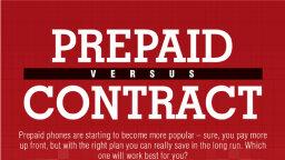 Prepaid Phone vs. Contract Phone