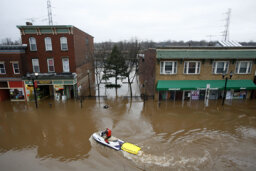 How do rescue teams search a flooded city?