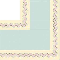 Rickrack Quilt Border Pattern