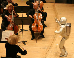 How does a robot conduct a symphony?