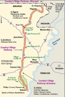 Arkansas Scenic Drives: Crowley's Ridge Parkway