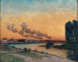 Setting Sun at Ivry by Jean-Baptiste Armand Guillaumin