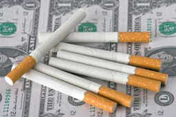 What organization spends the most on smoking prevention?