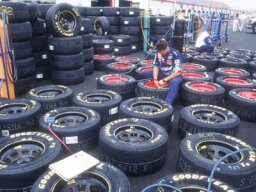 What were the stock car tire wars?