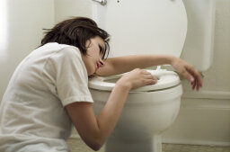 Why do stomach bugs make you throw up?