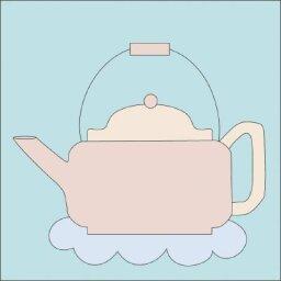 Teapot Quilt Block