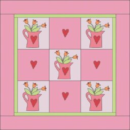 Watering Can Quilt Pattern