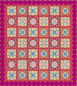 Window Pane Quilt Pattern