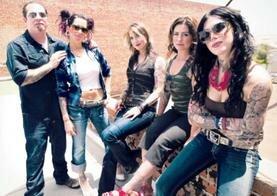 Photo L to R: Corey Miller, Pixie, Hannah Aitchison, Kim Saigh and Kat Von D.