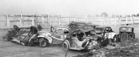 Crashes were ­plentiful in the action-packed 1947 NCSCC events. The ­drivers often snagged bumpers and tipped over, triggering massive pileups. Safety paraphernalia was virtually nonexistent. Nearly a dozen drivers required hospitalization during
