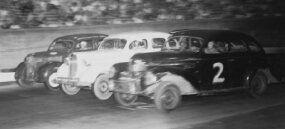 Bowman Gray Stadium in Winston-Salem, N.C., opened in June 1947 with a variety of stock car races. The tiny 1/4-mile track featured narrow dimensions, but the drivers still ran three-abreast. Bowman Gray ­hosted weekly events, but didn't stage any NCSCC championship meets in 1947.