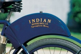 "The 1904 Indian was known as a ""humpback""                              because of the shape of its gas tank."