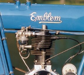 The top-of-the-line Emblems came with a seven- horsepower twin-cylinder engine, though this model is equipped with a single.