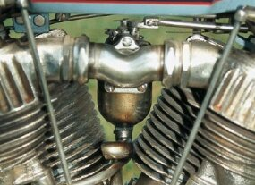 Among the few mechanical changes was a curved intake manifold to feed the venerable F-head V-twin.