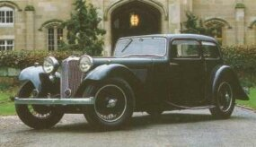 Among the six-cylinder SS1 models offered in 1935 was the two-door sedan.