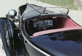 The interior for the 1931 Speedster was splashier, like the rest of its styling.