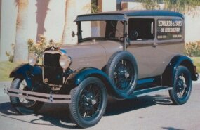 The 1928 Ford Model A/AA sedan delivery was basically a standard Tudor sedan with filled-in rear windows and no rear seat.