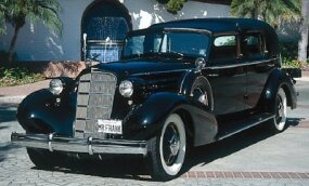 In the mid-1930s, even well-heeled buyers tended to chose V-8 Cadillacs over costlier V-12 models like this 1935 Cadillac Twelve town car.