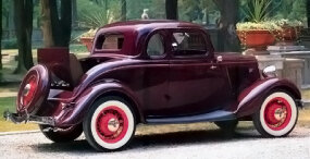 The 1934 Ford DeLuxe five-window coupe was a hit with 26,879 buyers.