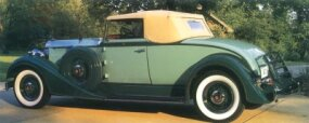 The 1934 Packard Eight coupe roadster was one of more than 40 models for Packard that year.