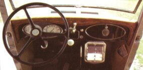 The dash of the PE DeLuxe featured all the modern amenities of the day.