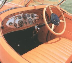 A Sun-Glow orange color graced the leather interior.