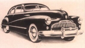 The 1946 Buick Roadmaster looked little different from earlier models, but the sedan now cost $2,110.