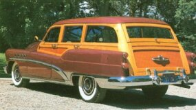 Buick's 1953 wagon was the last of the woodies. Only 359 Roadmasters were built.