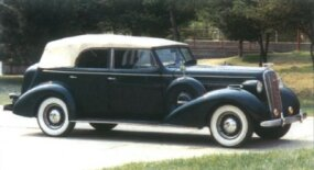 The 1936 Roadmaster convertible phaeton listed at $1,565.